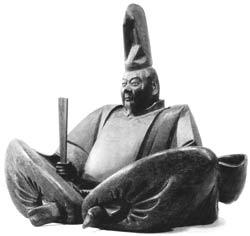 Holzbildnis von Minamoto no Yoritomo (1147 - 1199), dem ersten Shogun Japans