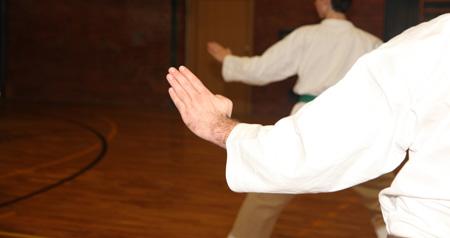 Karate Handhaltung beim Shuto Uke